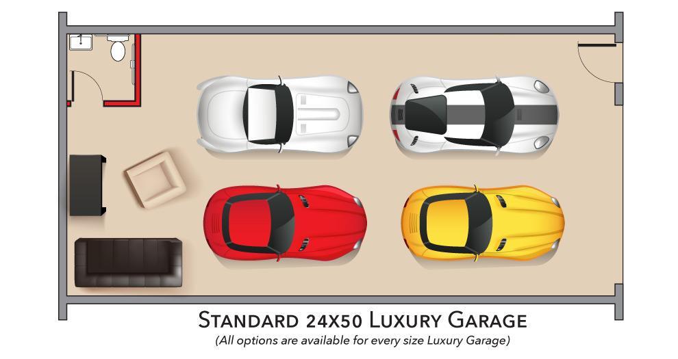 Standard Luxury Garage 24 x 50